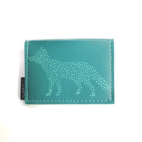 Vinyl Mini Wallet - Dot Fox