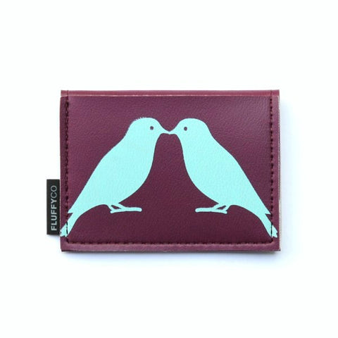 Vinyl Mini Wallet - Love Birds