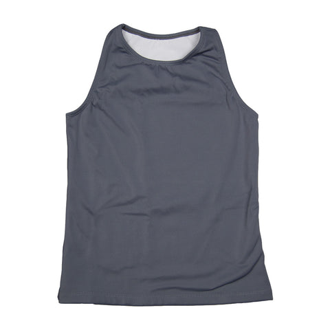 The Flatsea - Full Compression Swim Tank in Gray