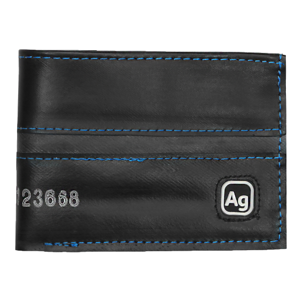 Bike Tube Wallet - Blue Stitching