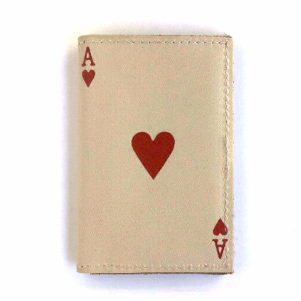 Leather Wallet / Card Case - Ace of Hearts