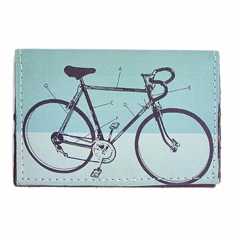 Leather Wallet / Card Case - Bike Diagram