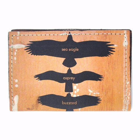 Leather Wallet /Card Case - Birds of Prey