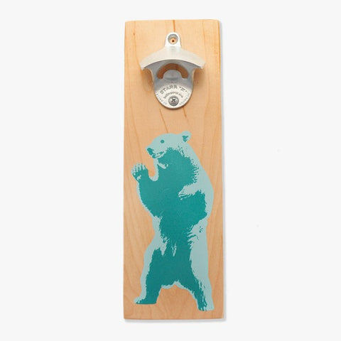 Wall Mount Bottle Opener - Bear