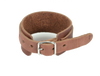 Leather Wrist Cuff with Buckle - Two Tone Brown