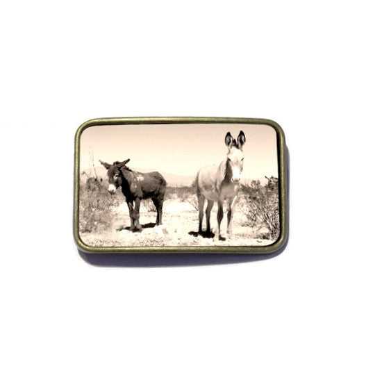 Belt Buckle - Donkeys