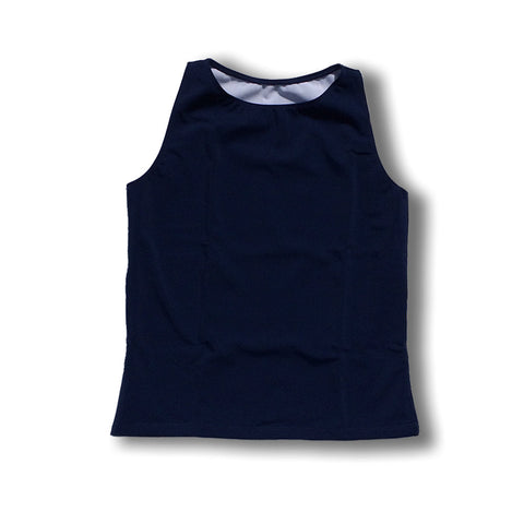 The Flatsea - Full Compression Swim Tank in Navy