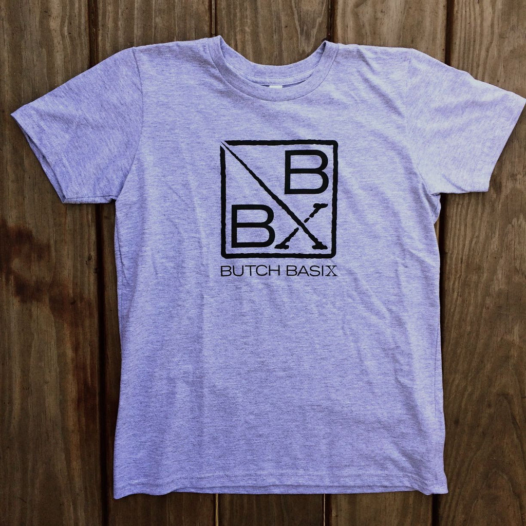 Butch Basix T-Shirt -  Heather Gray, 100% Cotton