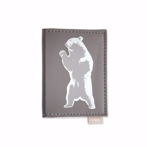 Vegan Mini Wallet - Bear