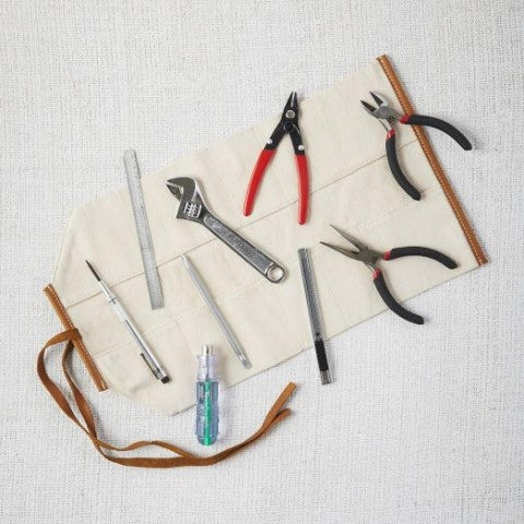 Roll-Up Tool Set (8 Piece) - Natural Canvas