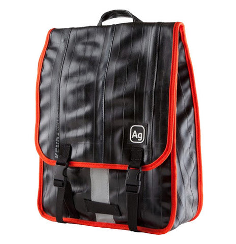 Recycled Bike Tube Slim Backpack - The Madison
