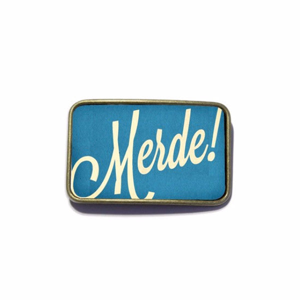 Belt Buckle - Merde