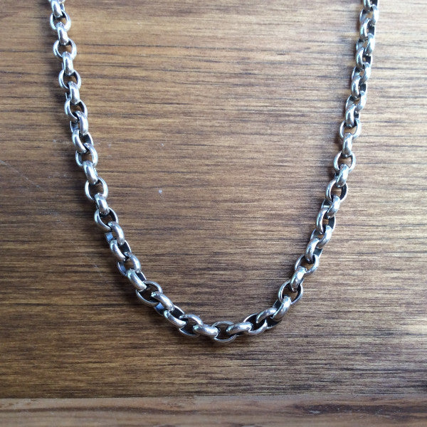 5mm Rolo Chain - Sterling Silver & Hand Tooled