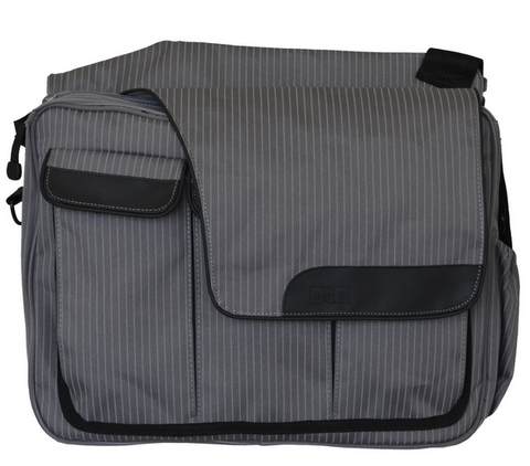 Diaper Bag - Grey Pinstripe