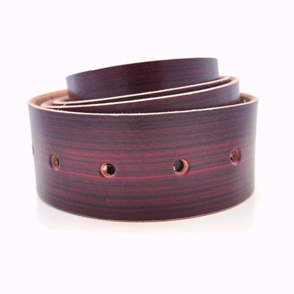 Red Distressed Leather Belt