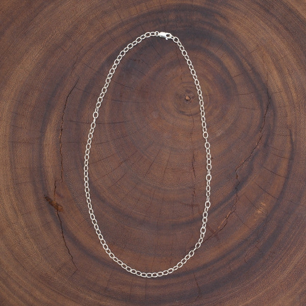 Sterling Silver Cable Chain with Oval Links