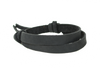 Black narrow leather wrist band with adjustable slip knot closure