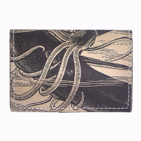 Leather Wallet / Card Case - Squid