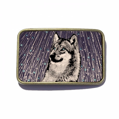 Belt Buckle - Star Wolf