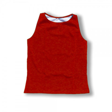 The Flatsea - Full Compression Swim Tank in Red
