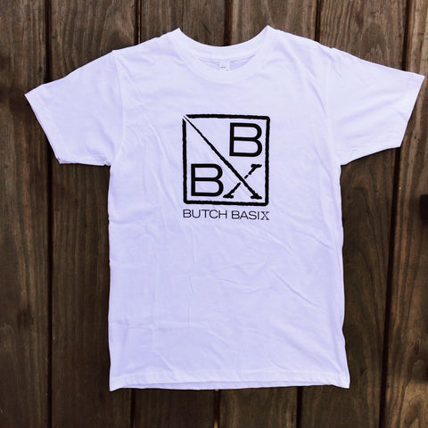Butch Basix T-Shirt - White, Organic Cotton