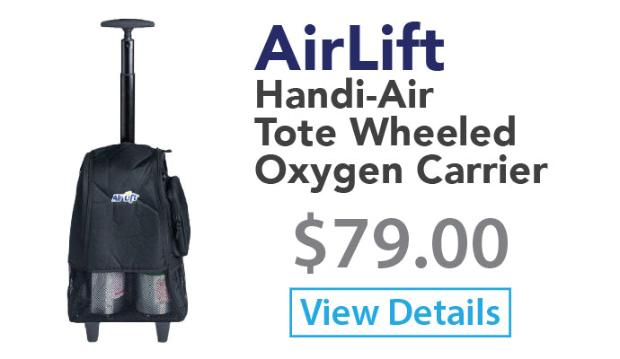 AirLift Handi-Air Tote Wheeled Oxygen Carrier