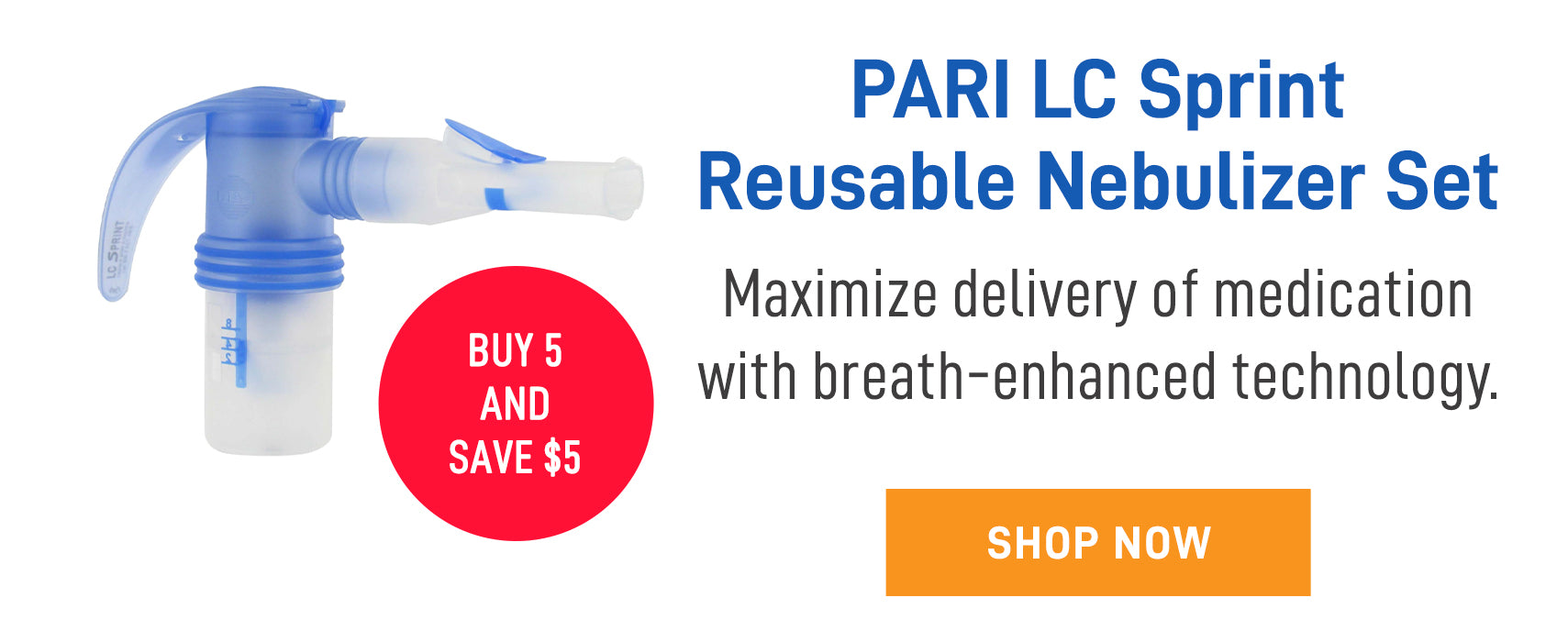 Pari Sprint nebulizer set to use with most nebulizer systems
