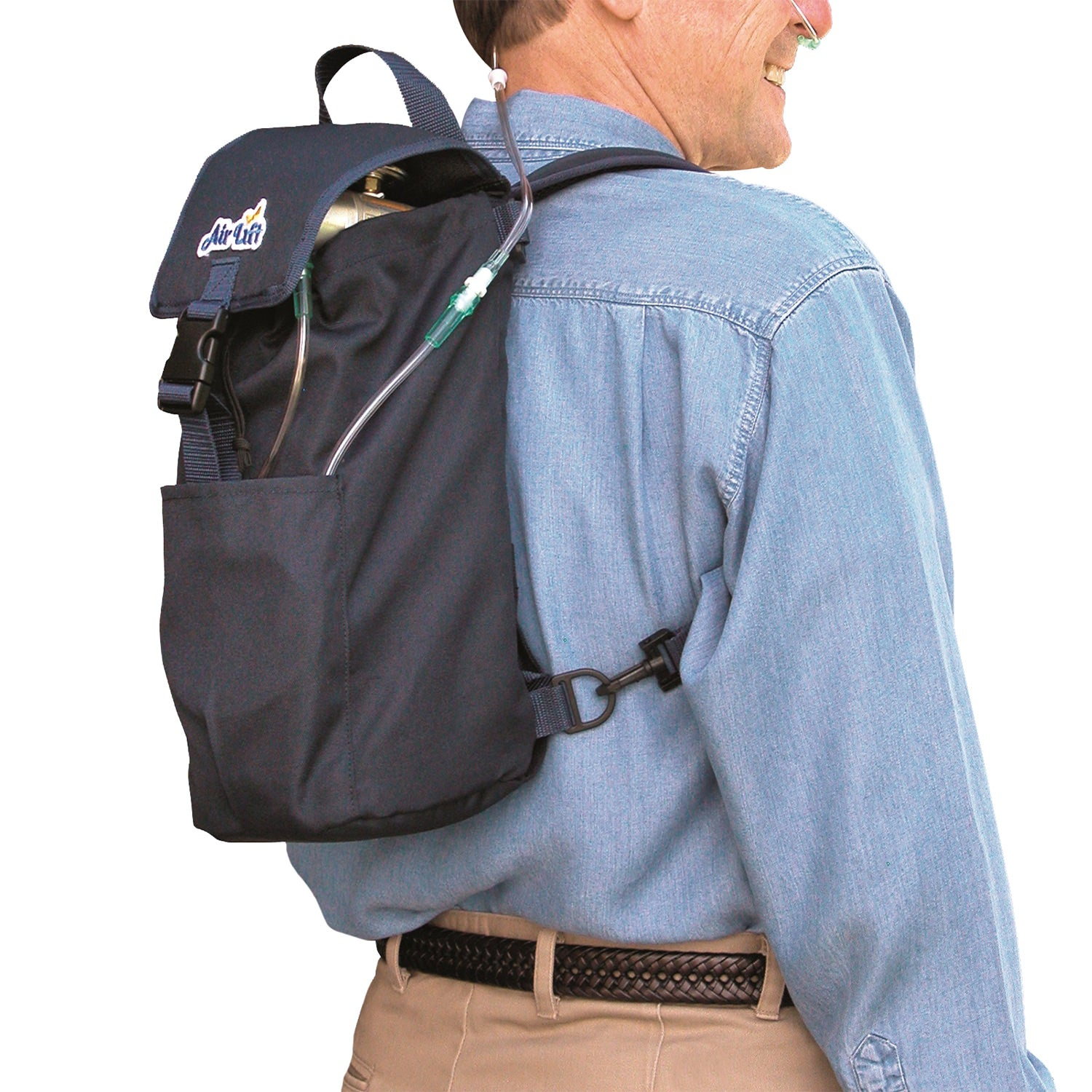 AirLift Backpack Oxygen Carrier-M6, C/M9 or Smaller Oxygen Cylinders