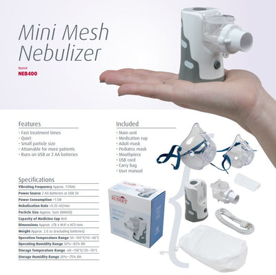 NEB400 Mini Mesh Nebulizer