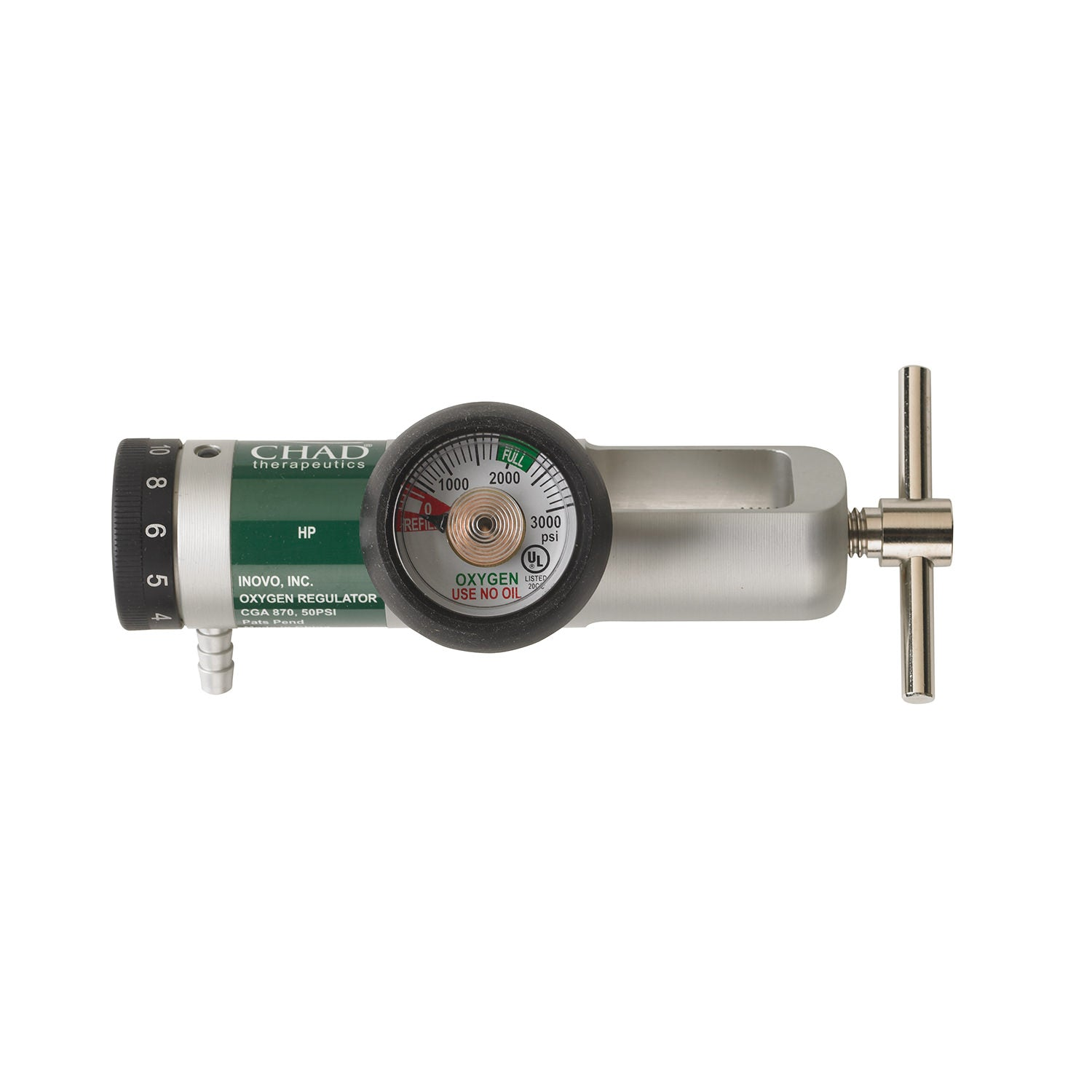 CHAD® 870 Oxygen Regulator with Brass Core