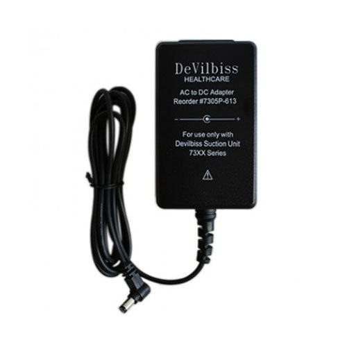 AC to DC Adapter/Charger for DeVilbiss Vacu-Aide® Compact Suction Unit
