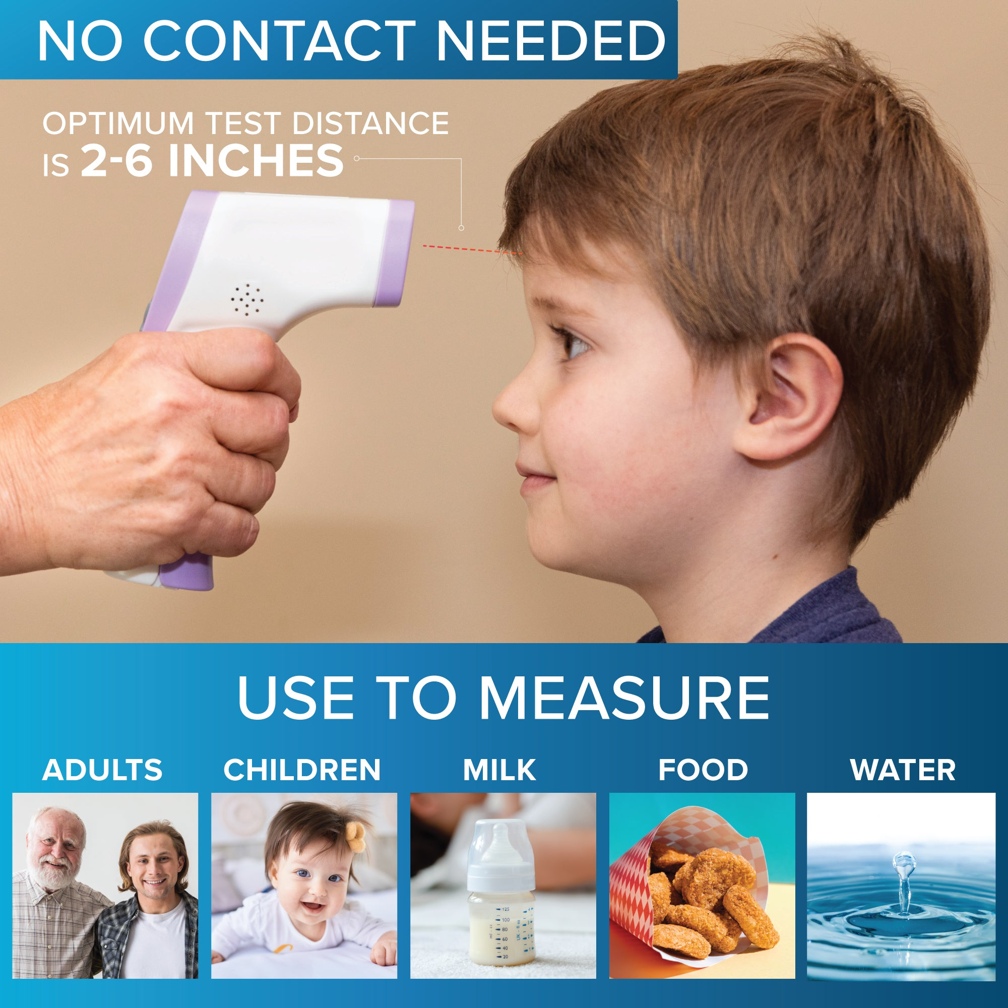 UK Non-contact handheld infrared electronic thermometer  forehead thermometer