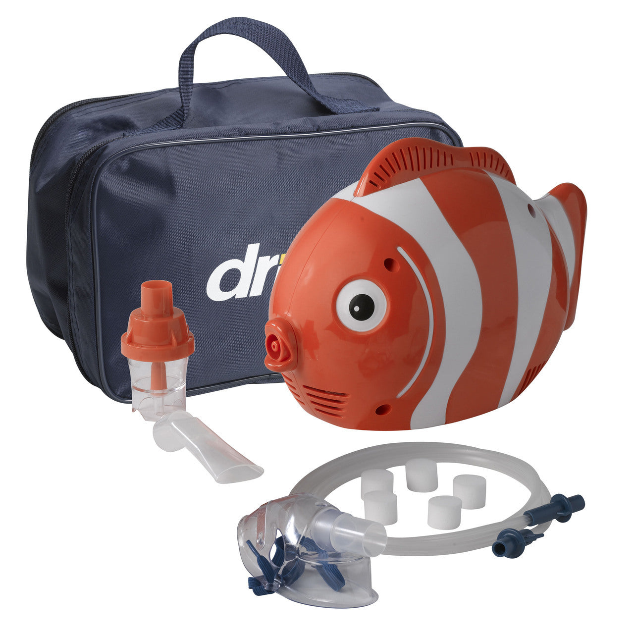 Clown Fish Pediatric Compressor Nebulizer-With Disposable Nebulizer