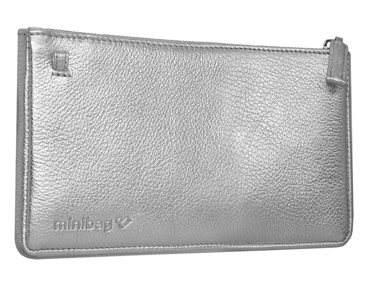 minibag metallic silver