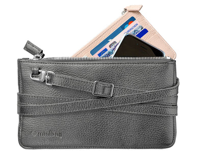 minibag metallic anthracite + Wallet