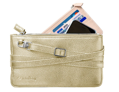 minibag metallic gold + Wallet