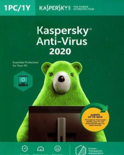 Kaspersky Antivirus 2020 - 1 Device / 1 Year EU