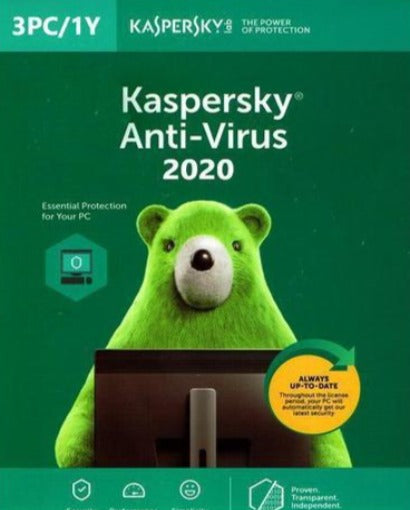 KASPERSKY ANTIVIRUS 2020 KEY (1 YEAR /3 PC) EU - Soft&More