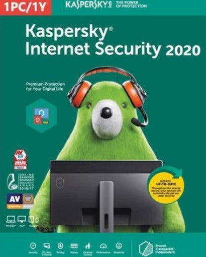 Kaspersky Internet security 2020 - 1 Device MD 1 Year EU