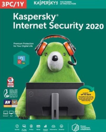 KASPERSKY internet security 2020 KEY (1 YEAR / 3 PC) EU - Soft&More