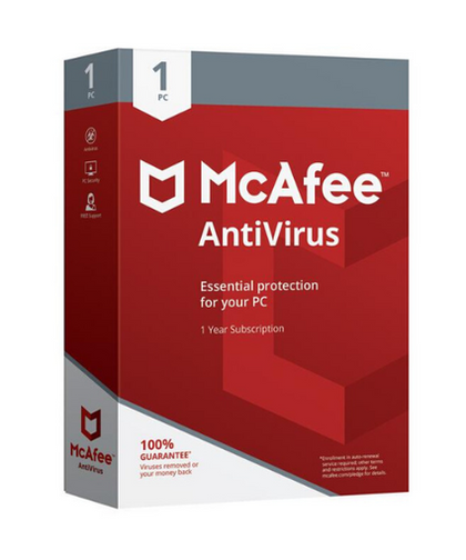McAfee Antivirus 2019 - 1 Device / 1 Year