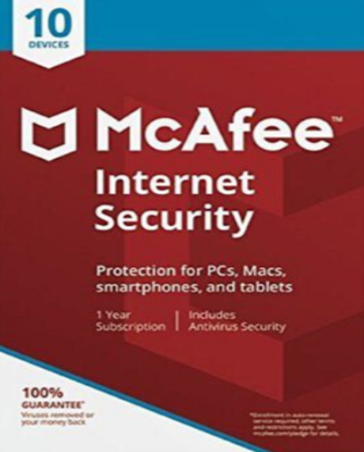 McAfee Internet Security 2020 - 10 devices / 1 Year