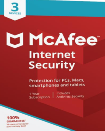 McAfee Internet Security 2020 - 3 User / 1 Year