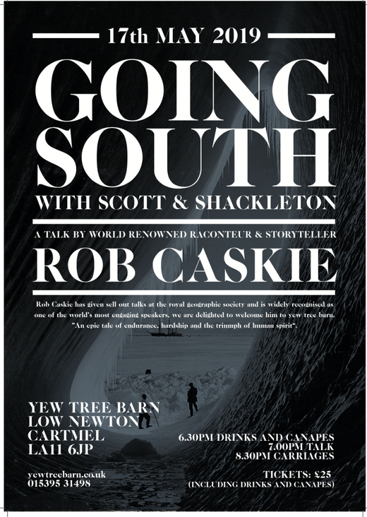 977e9317e42ad CANCELLED *Going South - a talk by world renowned raconteur Rob Caskie