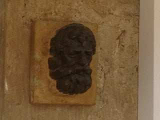 RECLAIMED CAST IRON GUTTER MOUNTS bearded man cast head
