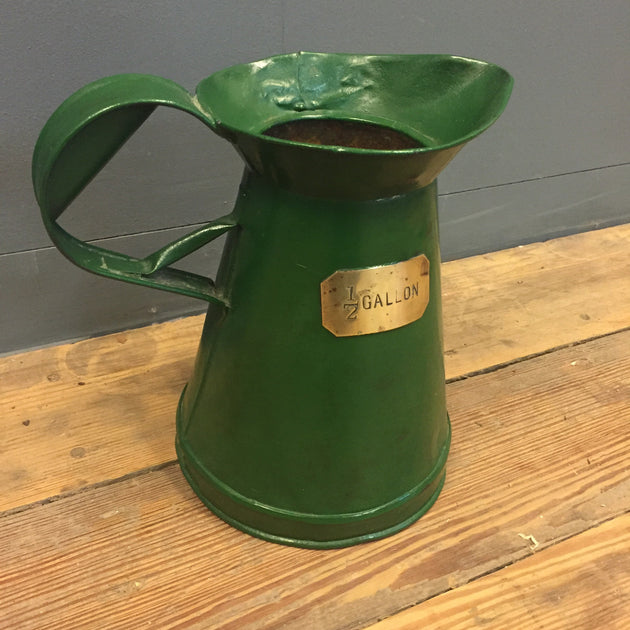 half gallon tin jug