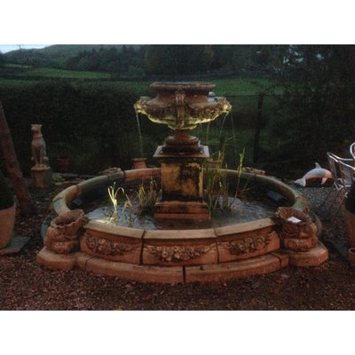 The Lion Mask fountain is one of the most popular water features offered by Yew Tree Barn
