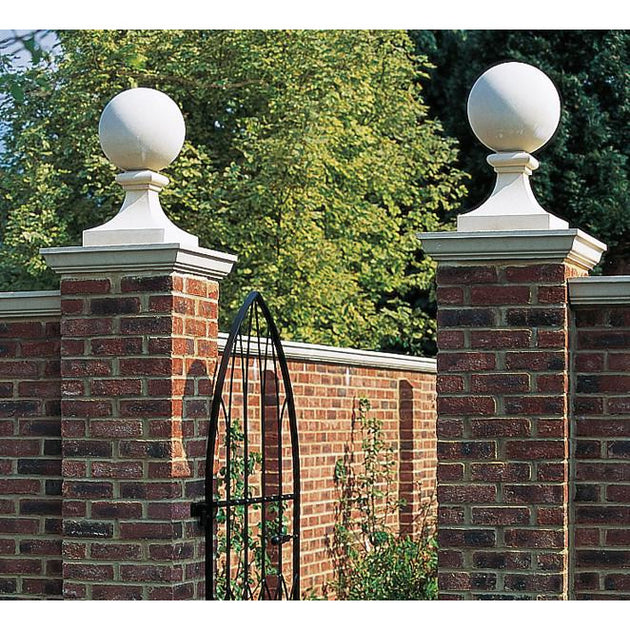 cast stone ball finials for gates or entrances