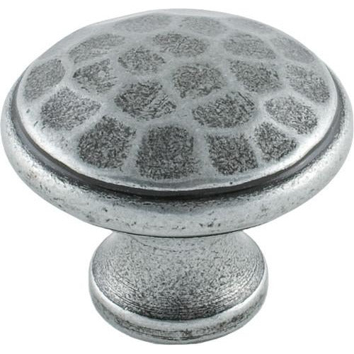 Medium Pewter beaten cupboard knob 33626