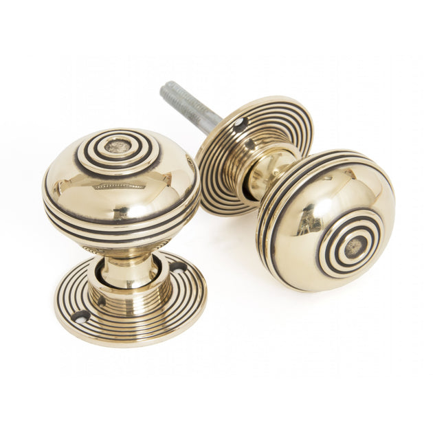 Prestbury Mortice/ Rim Knob Set in Aged Brass
